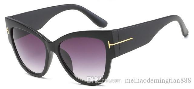 Moda Kedi Göz Tom Güneş Kadınlar Yaz Oversize Kare Klasik Marka Tasarımcı Shades UV400 Erkek Güneş 7710 gözlük