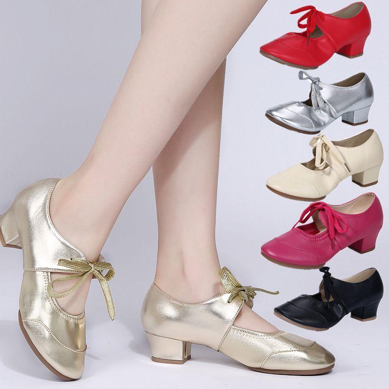 Danse moderne Femmes Chaussures Talon Place de danse Chaussures de sport Chaussures de danse pour les filles Ladies 6color gros A241