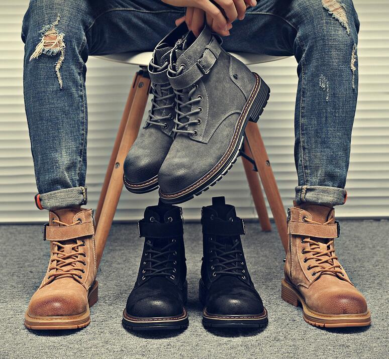 Moda al aire libre hombres de las mujeres de Martin botas de selva Negro táctico de combate militar de ventilación Trabajo top del alto de los zapatos nuevos