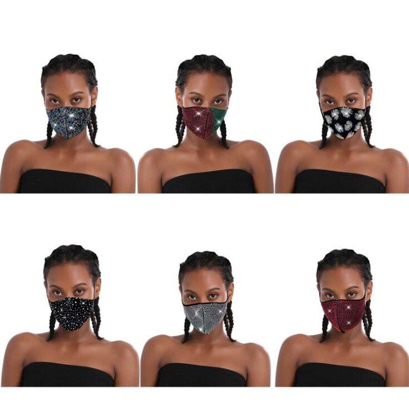 El más barato! Nueva original de la manera mujeres del diseño de la máscara de la máscara de lujo imitación de diamante de la cara para el partido en el envío de DHL