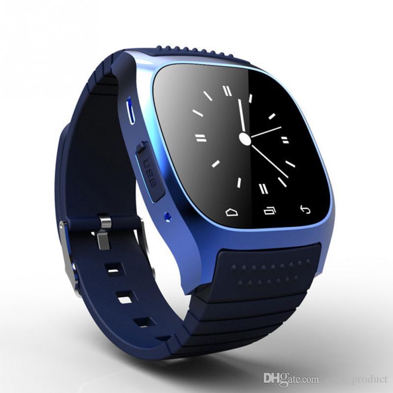 M26 Akıllı Izle Su Geçirmez Bluetooth LED Alitmetre Pedometre Akıllı Kol Android Iphone Akıllı Telefon Için PK DZ09 U8 Izle