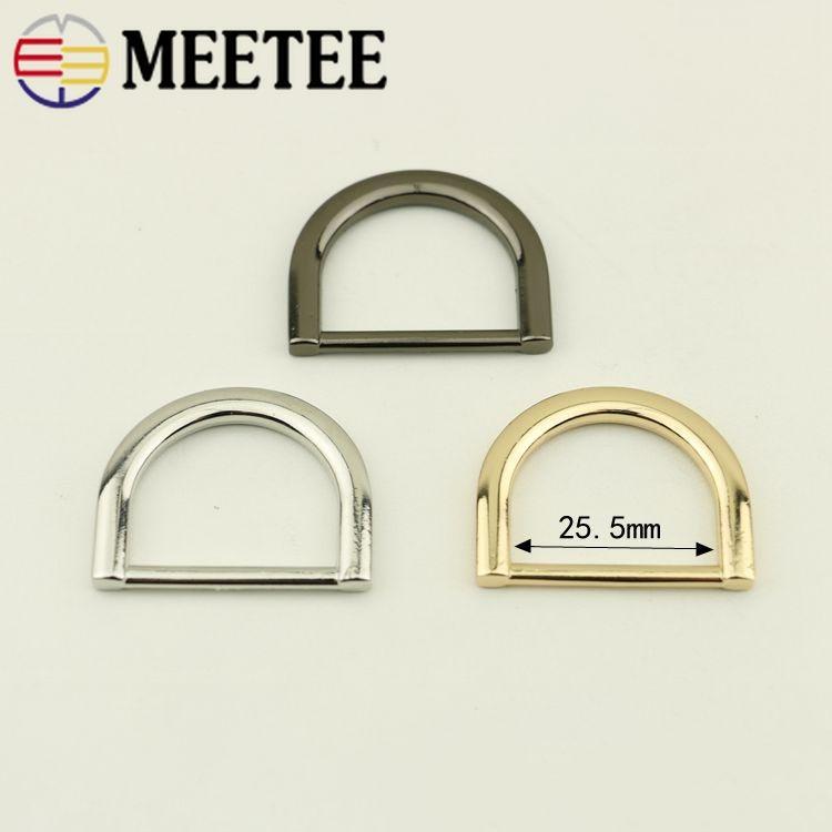 Meetee 32mm Metall O D Ring Schnalle Rucksack Handtasche Verstellbaren Riemen Kleiderbügel Haken Für Hundehalsband Gurtband DIY Tasche Lederhandwerk