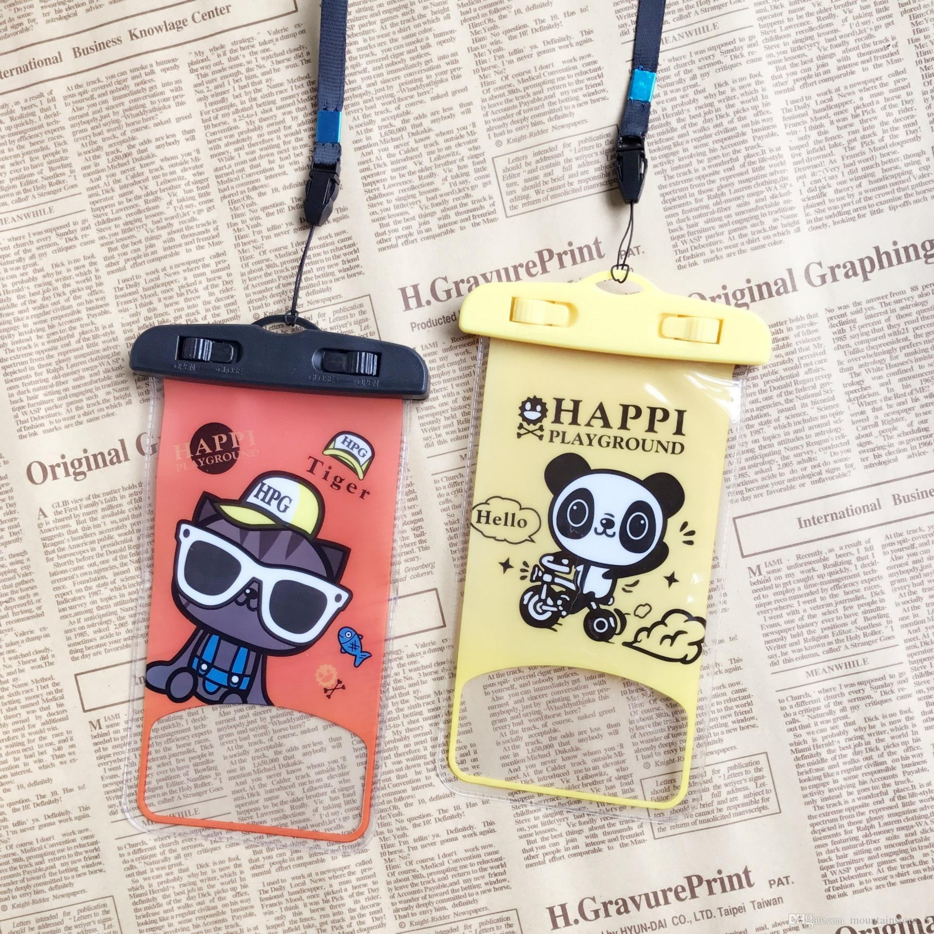 Cartoon Waterproof Mobile Phone Case For iPhone Xr 6 Plus Samsung Clear PVC Sealed Underwater Cell Smart Phone Dry Pouch Cover (Retail)