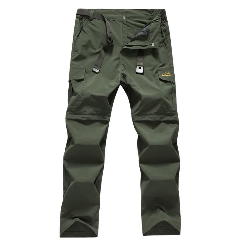 Outdoor Men Tactical Lightweight Zip Off Quick Drying Stretch Convertible Cargo Pants Shorts Bottom For Hiking Camping 8802