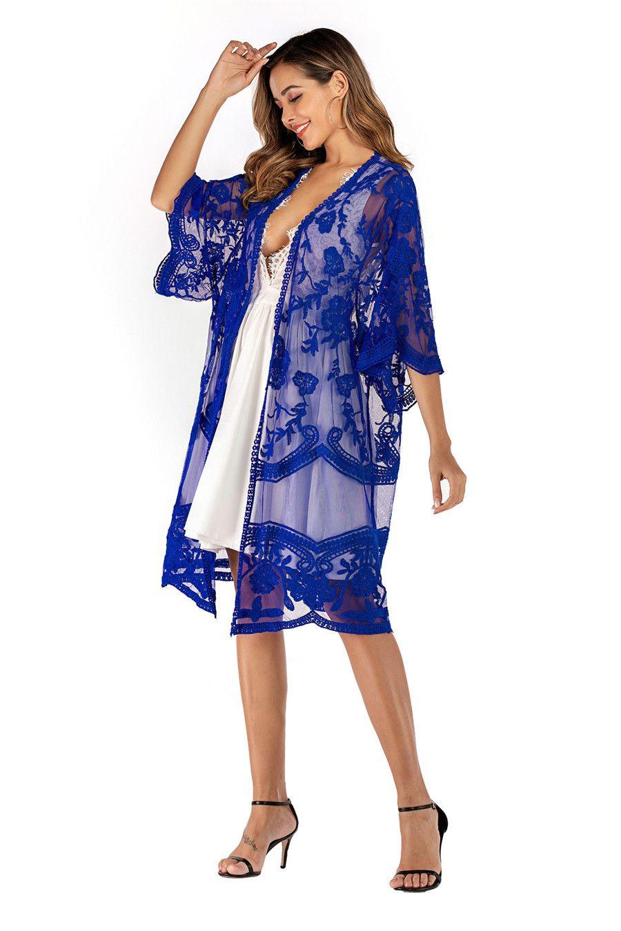 2020 Frauen Beach Wear-Vertuschung-Badebekleidung Badeanzug Sommer Minikleid Lose feste Pareo Vertuschungen