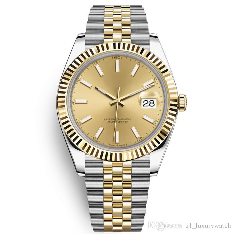 U1 automatische mechanische Uhr Männer Big Lupe 41mm Edelstahl Saphir Herrenuhr Männer Armbanduhr wasserdicht Luminous