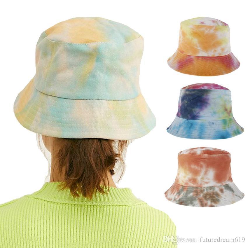 sombrero del cubo de regalos Garden Beach Cap sombrero floral universal al aire libre pescador sombrero las mujeres de los hombres de Viajes Visera 3 colores