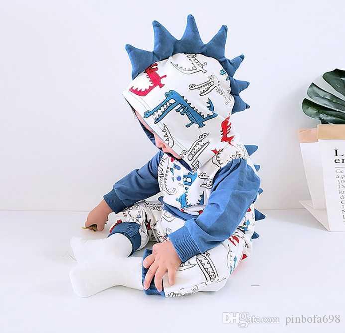 Yumuşak Denim Bebek Romper Yenidoğan Kapşonlu Tulum Erkek Bebek Giyim Kovboy bebek Fermuar Jumpsuit Kıyafetler Brief Unisex Çocuk Bebekler