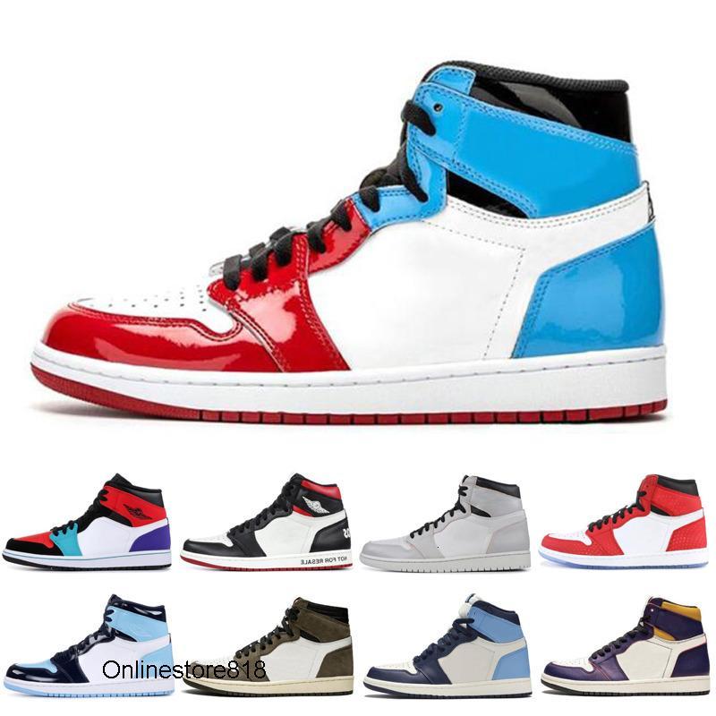 Le plus récent 1 1s hommes chaussures de basket-ball satin noir rouge Toe Gym Cour UNC TURBO GREEN Violet interdit 1 hommes chaussures de sport