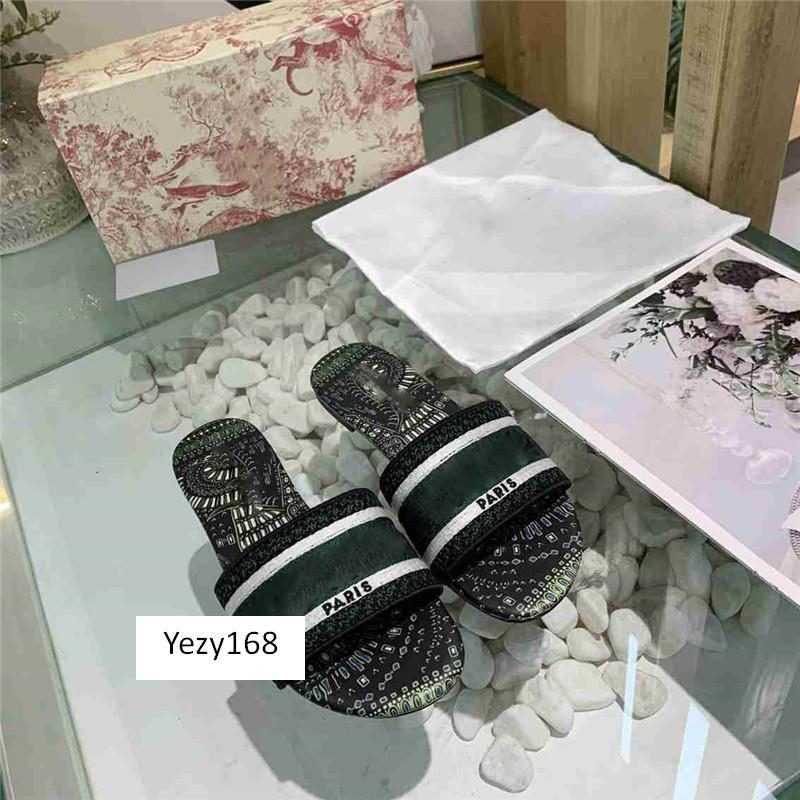 With boxDazzle Flowers Women Sandals Designer Slippers Embroidery Sandal Floral Brocade Slipper Flip Flops 9