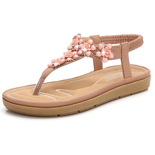Casual Shoes Hot Sale-estate donne di modo sandali Boemia signore Sandali Strass Beach 35-41