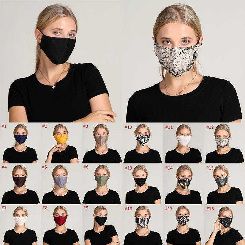 أقنعة الوجه سيدة الموضة الغبار قناع المضادة للضباب قابل للغسل وقابلة لإعادة الاستخدام الوجه أقنعة قابل للتعديل الأذن الحبل الألوان الصلبة والمطبوعات XD23789
