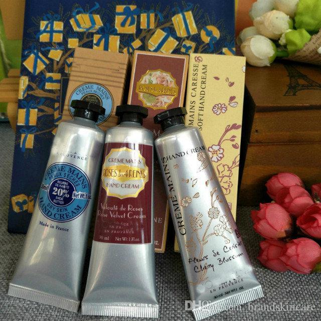 Disponibile ! 1 confezione = 30ml * 6 pezzi KIT MANI BELLISSIMA Meglio della crema per le mani di provenza collezione crema idratante per le mani per le mani cura della pelle