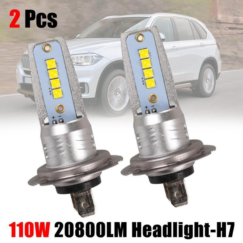 2шт H7 LED фары преобразования набор Cob лампы 110 Вт /10000LM Белый низкий свет лампы 6000 К супер яркий
