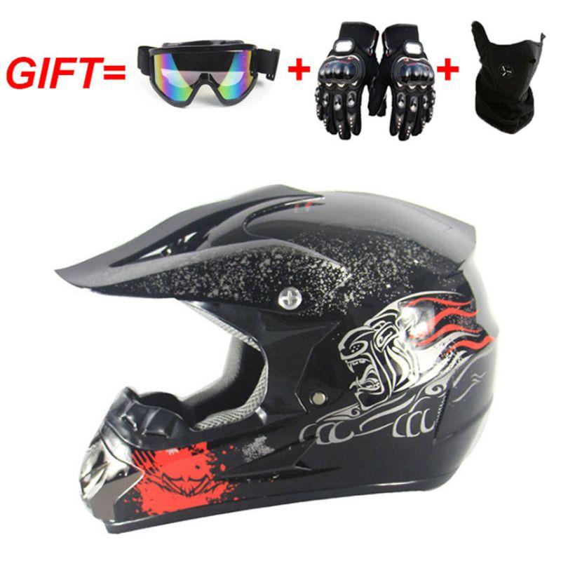 gözlük eldiven ile motosiklet kaskı aşağı için Motosiklet Arazi çapraz MTB DH yoldan motosiklet çapraz yarış kask noktası maske