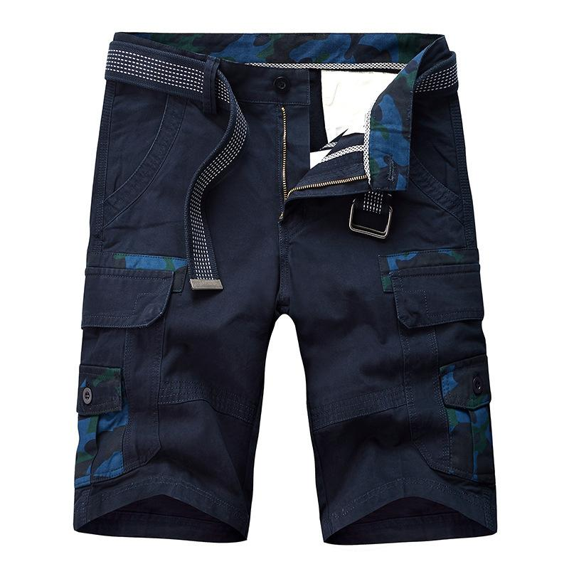 100% coton militaire Camouflage Cargo Shorts Hommes 2020 New Arrival Casual Hommes en vrac travail Shorts Homme Pantalons courts hombre Y200519