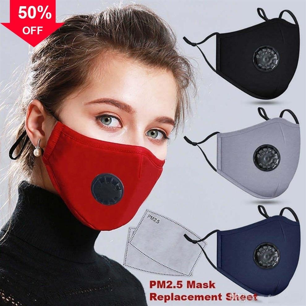H6vx Maschera Viso parapolvere, antipolvere, fumo e maschere allergie riutilizzabili registrabili antipolvere protezione con 2 Filtri Donne Uomo panno