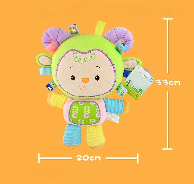 8 stili Giocattolo del bambino Sonagli Pacify Doll peluche del bambino Sonagli giocattoli animali mano Bells Newbron animali elefante / scimmia / leone / coniglio