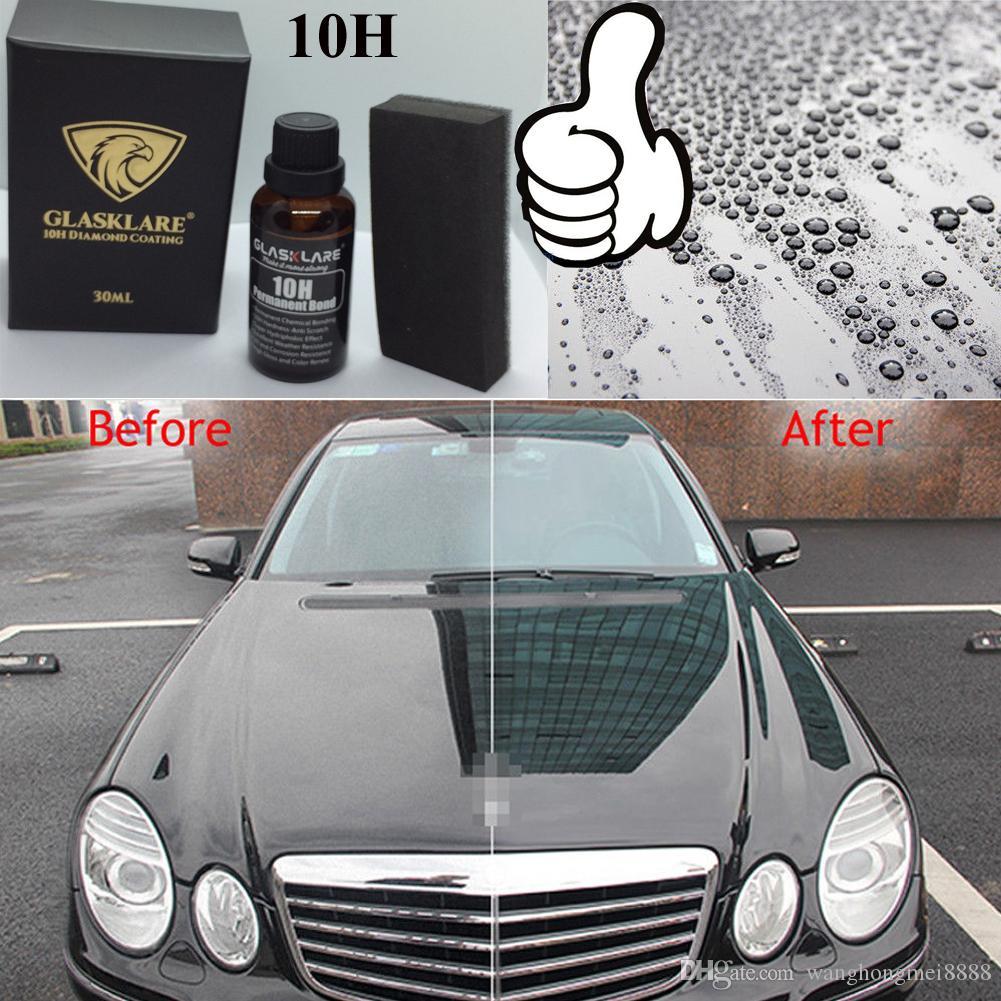 10H 30ML السيارات السائل معطف سيراميك نانو سيراميك زجاج السيارات الطلاء السائل مسعور مكافحة خدش 30ML العناية بالسيارات