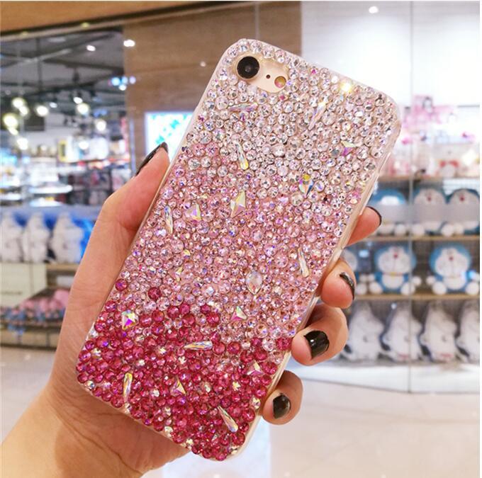 Cas de téléphone Bling de luxe complet cas de strass pour Samsung Galaxy S3 S4 S5 S6 S7 Edge S8 S9 Plus Note 2 3 4 5 7 8 Neo G530 G850