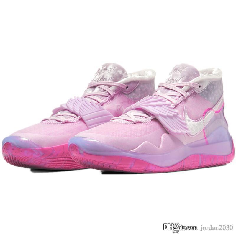 Nike KD 12 Aunt Pearl Hot vente bonne qualité femmes hommes chaussures de basket-ball CT2740-900 GS Kevin Durant 12 ans KD 12 tante Pearl tante Chaussures de course size40-46