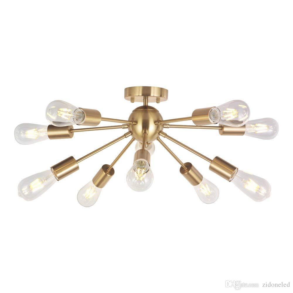 Modern Sputnik Lustre de Iluminação 10 Luzes de Teto Luz de Meados do Século Pingente de Iluminação para Cozinha Sala de Estar Sala de Jantar Quarto de Cama Corredor