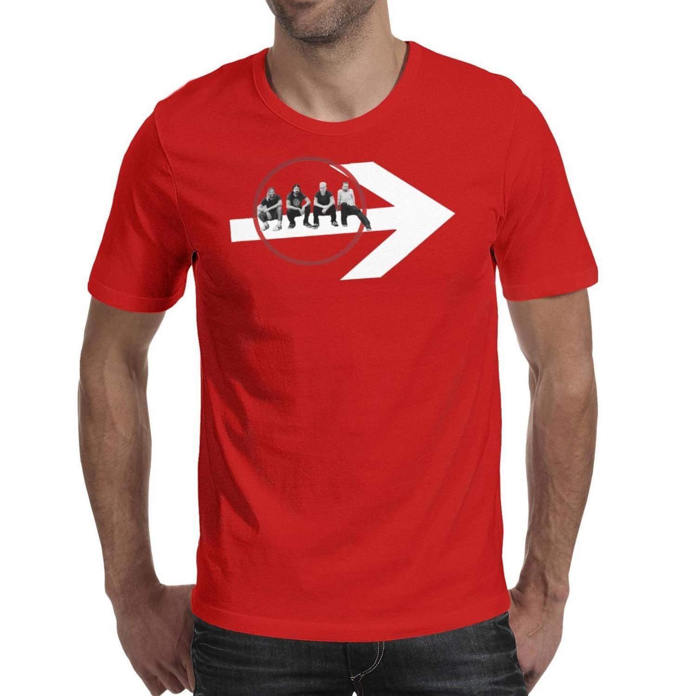 Mode Hommes Foo Fighters chansons de StubHub noir col rond T-shirt Rétro chemises les combattants de foo fléchée Dave Grohl Red T