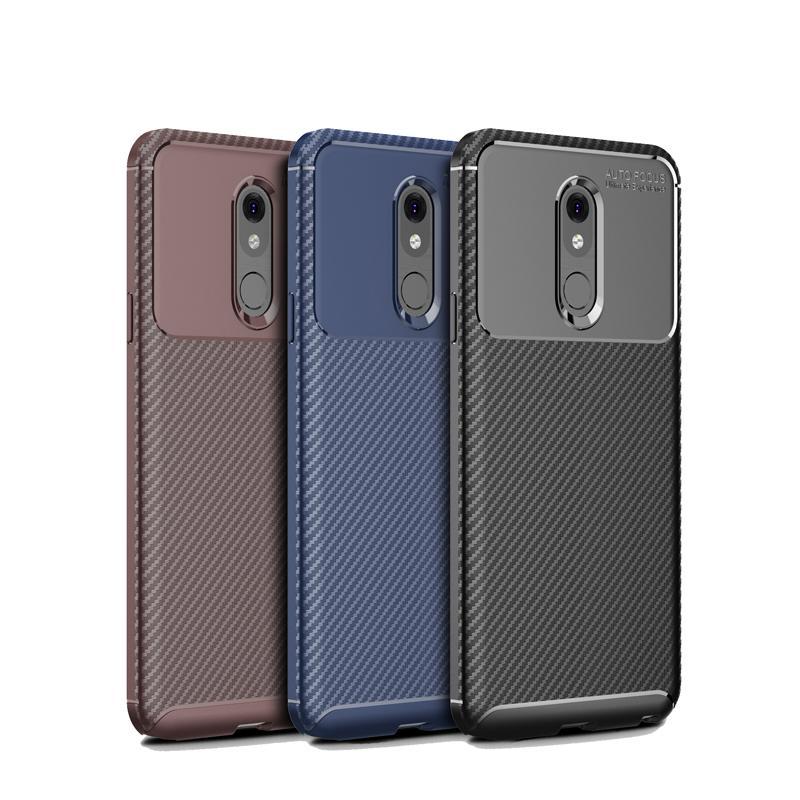 Escarabajo de fibra de carbono TPU caso para LG Stylo 5 teléfono caso de lujo delgado suave cubierta trasera 1 orden