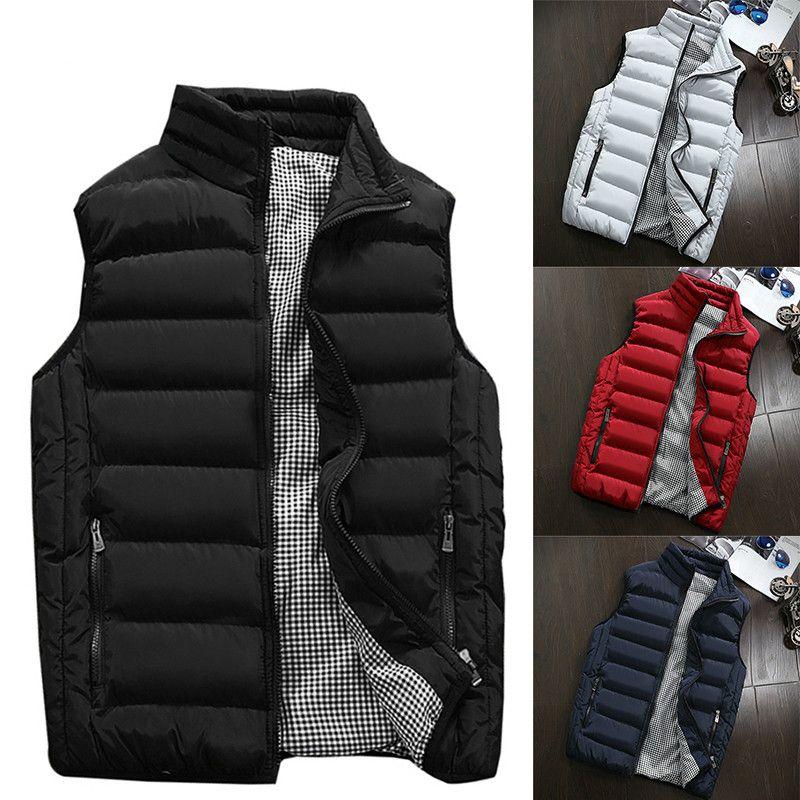 Hombres de talla grande 5XL chaleco hombres nuevo estilo 2019 primavera otoño cálido chaqueta sin mangas hombres invierno chaleco hombres chaleco Casual abrigos