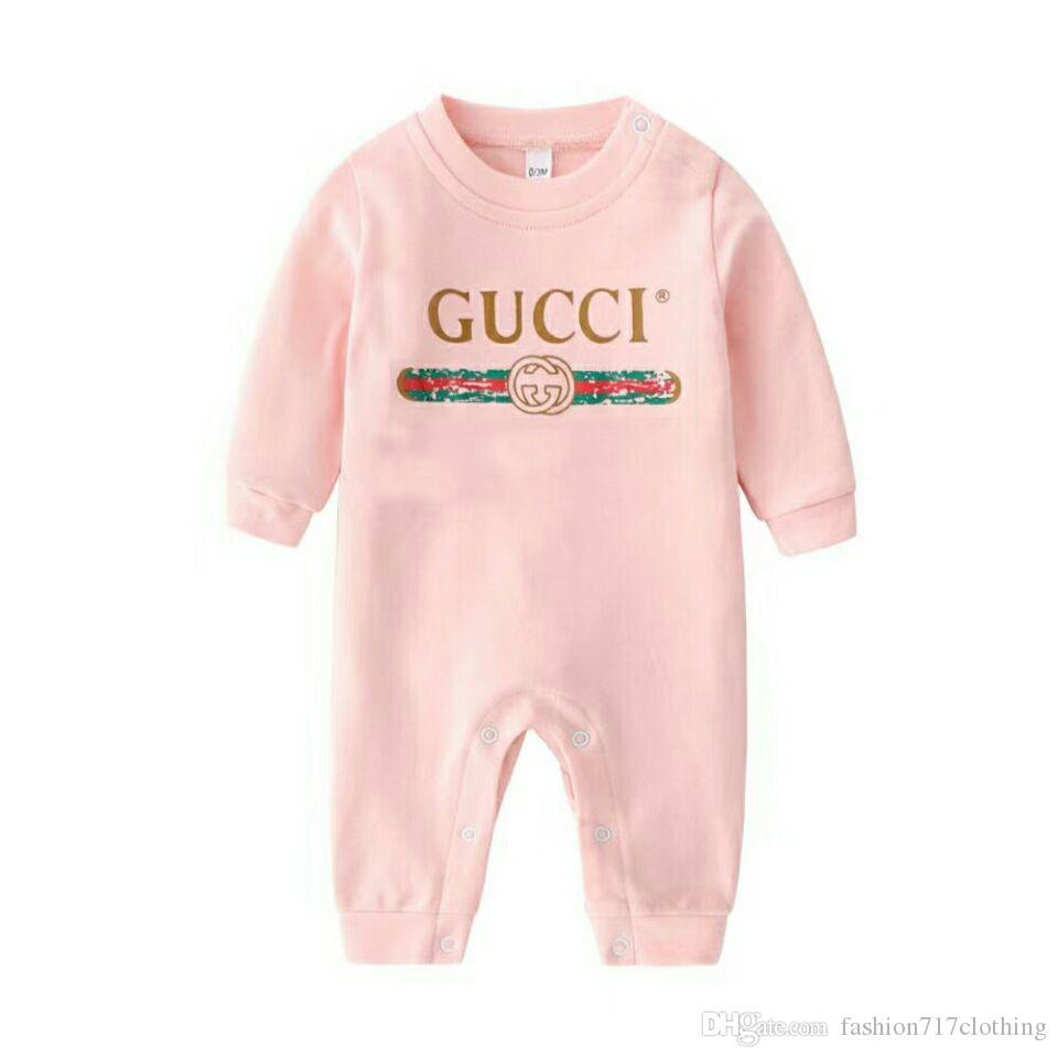 عالية الجودة موضة ضبط 2020 NEW ملابس اطفال لطيف القطن بنسبة 100٪ الوليد الرضيع بنين والبنات رسالة رومبير
