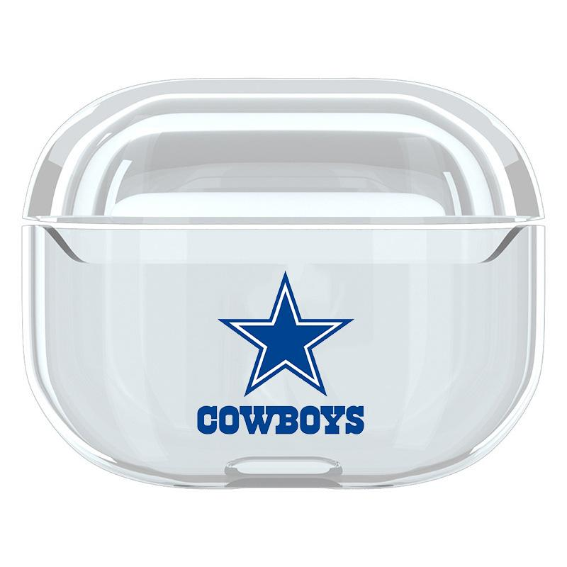 2020 Sport Team Cowboys Plastic Airpods 1 2 Airpods Pro Case Clear