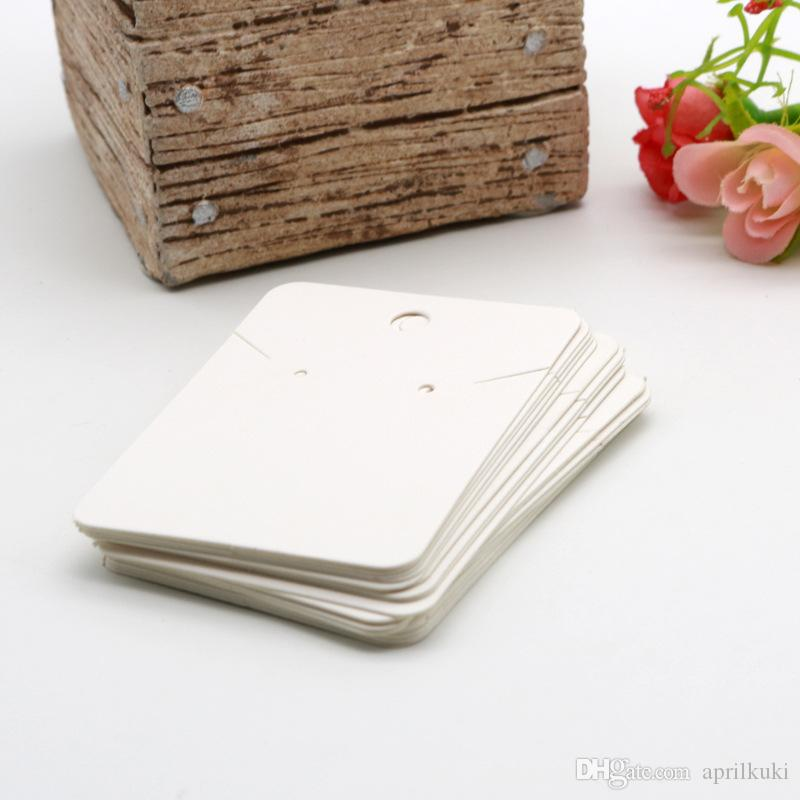 5 * 7 سنتيمتر بيضاء فارغة أسلوب بسيط بطاقة تغليف المجوهرات المستخدمة ل necklaceEarringStud الأذن بطاقات صنع المجوهرات diy زينة بالجملة