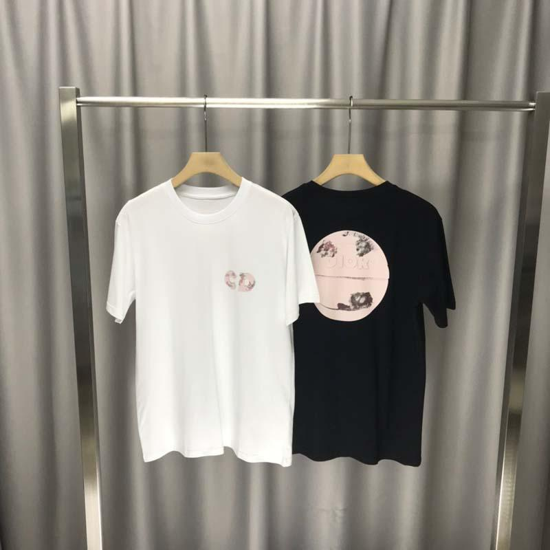 2020ss spring and summer new high grade cotton printing short sleeve round neck panel T-Shirt Size: m-l-xl-xxl-xxxl Color: black white qq66