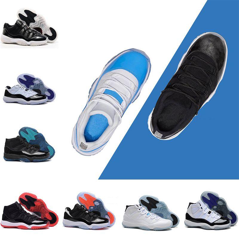 Basketball en gros Chaussures 11s Gym rouge minuit marine casquette basse RE2PECT et robe de fermeture Space Jam 45 homme 11s la taille du sport 36-47