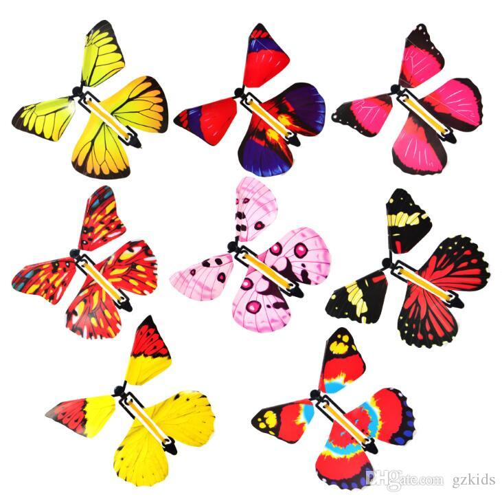Magic butterfly new flying butterfly change with empty hands freedom butterfly magic props magic tricks free shipping