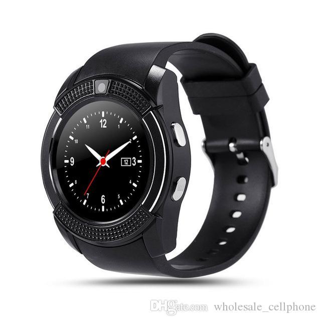 V8 GPS الذكية ووتش بلوتوث الذكية تعمل باللمس ساعة اليد مع فتحة كاميرا بطاقة SIM للماء سوار الذكية لIOS الروبوت فون ووتش