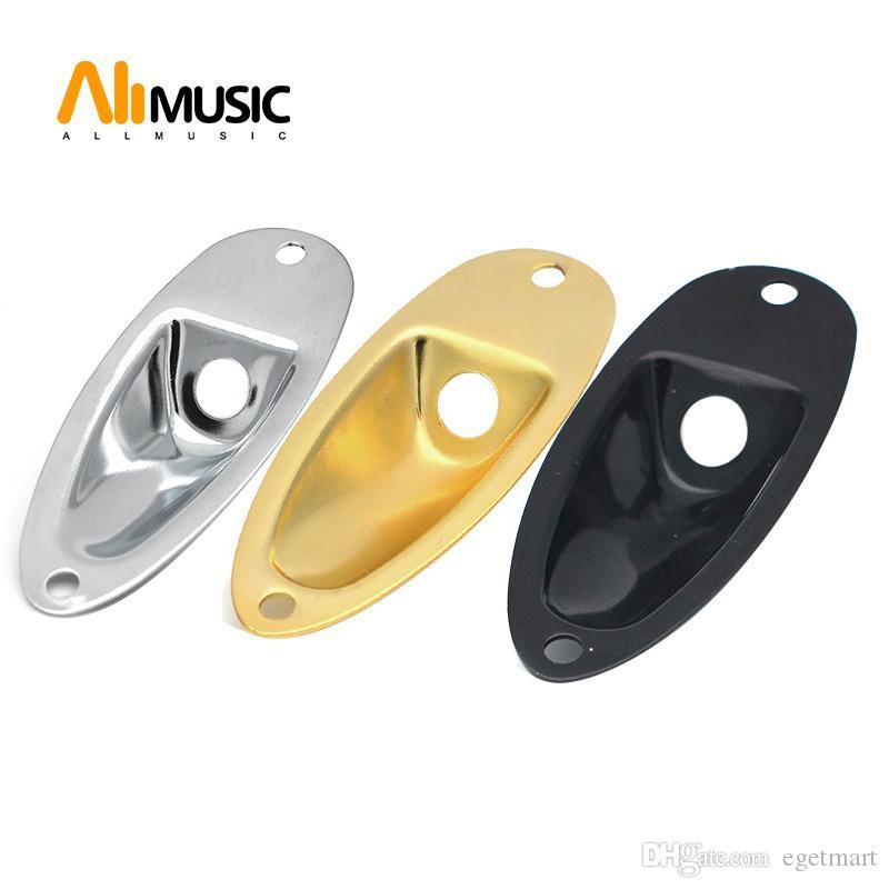 10pcs Estilo Barco Bajo eléctrico Jack Placas - Placas Socket Negro / oro / cromo