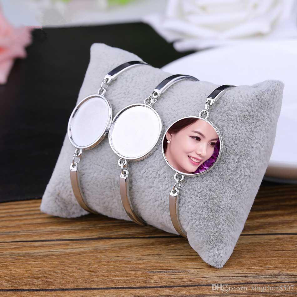 bracelets blancs de sublimation pour l'impression par transfert à chaud femmes mode bijoux bracelet consommables diy Nouvelle Arrvial