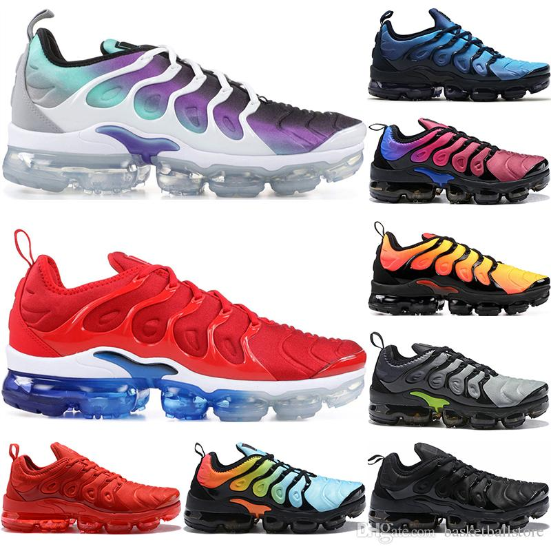Nike Air Vapormax TN Plus Hombres Mujeres Zapatos Para Correr Uva Tropical  Sunset USA Puesta De Sol Foto Blus Triple Negro Blanco Mujer Entrenador ...