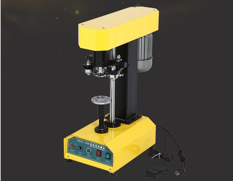 Полуавтоматическая машина для запечатывания консервных банок Smartbud Tin POP-TOP Машина для запайки сухих трав для пластиковых и металлических банок (TDFJ-160)