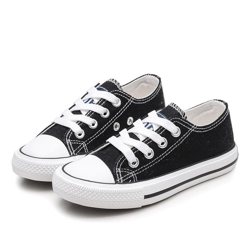 2019 جديد الكلاسيكية الأطفال قماش أحذية الفتيات الفتيان الحلوى حذاء وتر الوحيد عارضة أحذية بلون chaussures garcon الشقي