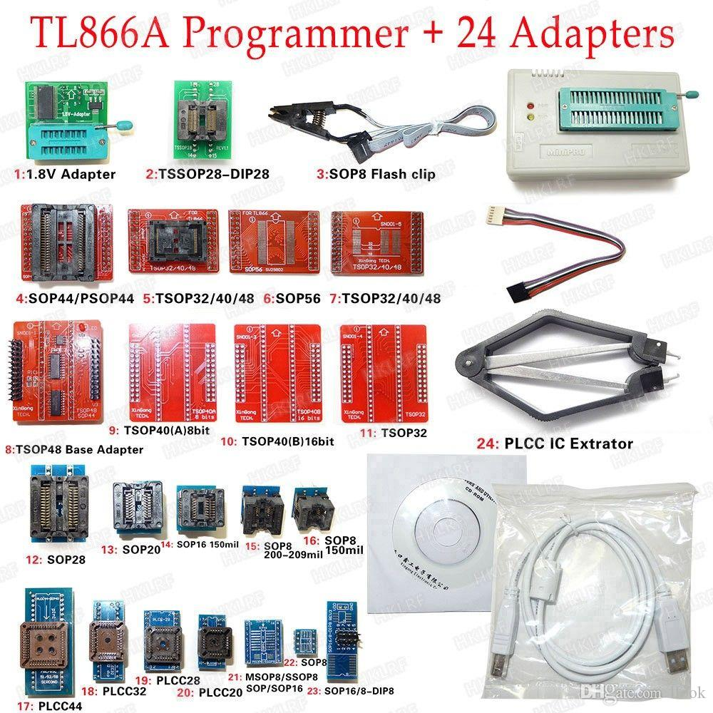 Freeshipping Universal USB Programmer TL866A EPROM FLASH BIOS 24 Adapters Extractor Clip /100% Original
