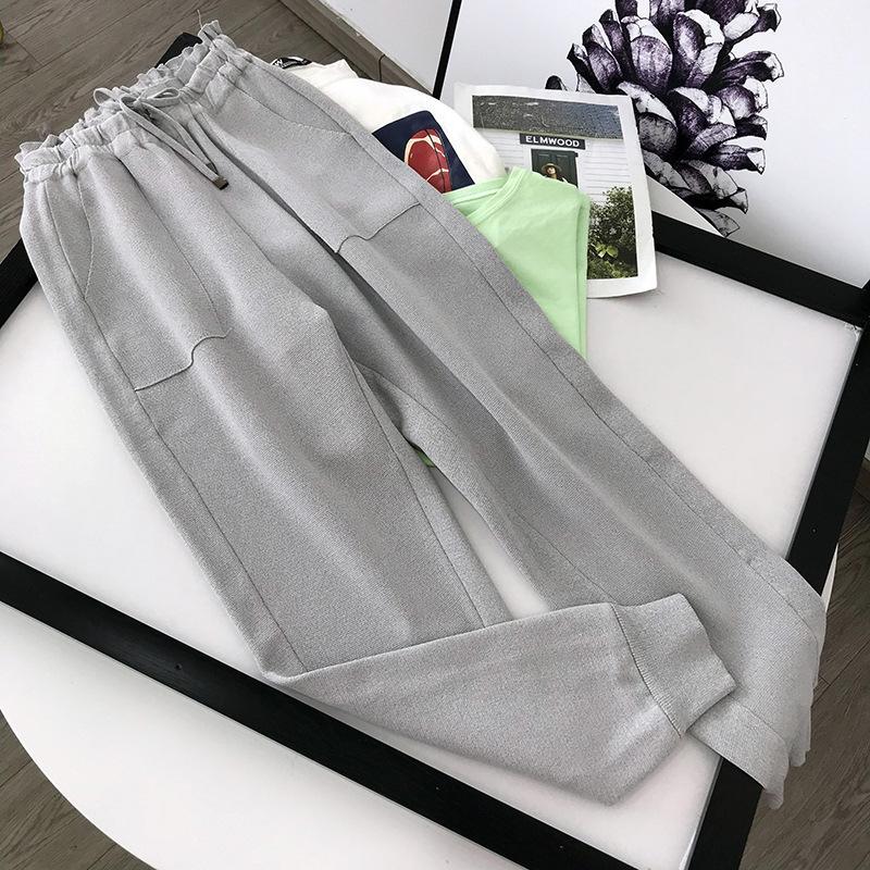 Женские брюки CAPRIS Специальное предложение Обработка платья Осень для похудения Стиль Стиль Стиль Ног вязаный повседневный корейский стиль универсальные женщины