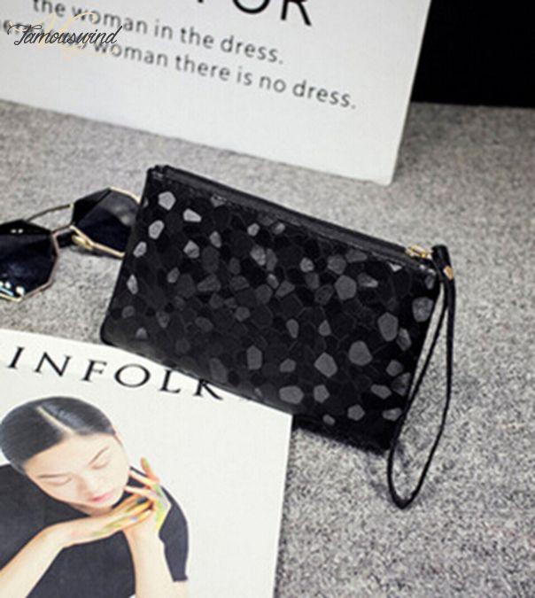 Pu The New coreano Mini Carteira Liso Sequins Moda Trendy Handbag transporte da gota boa qualidade Novo Moda