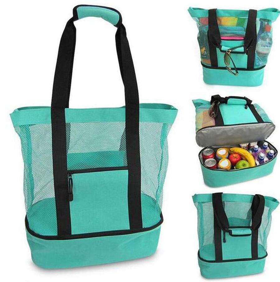 Bolso de picnic al aire libre 4 colores playa camping multifunción gran capacidad de gran capacidad bolsa de almuerzo portátil al aire libre bolsa de viaje OOA7472