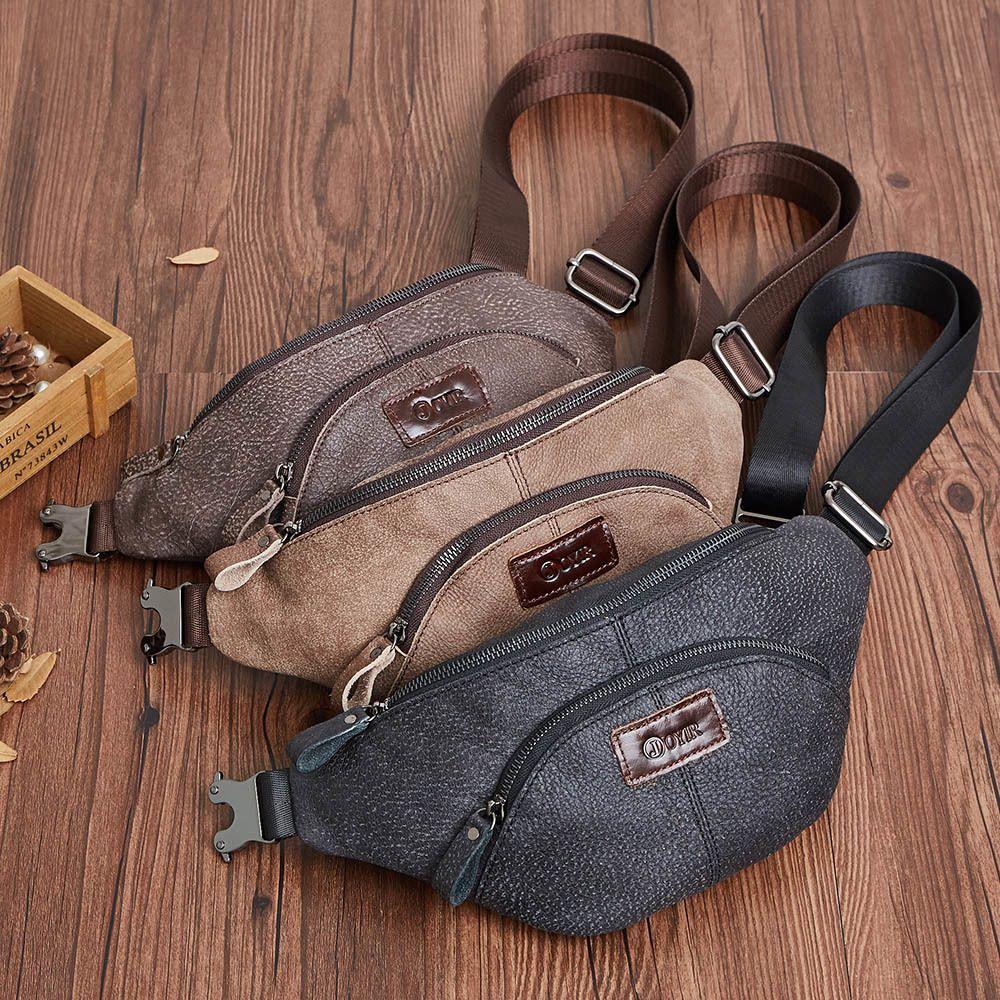 borse da viaggio multifunzione uomini del cuoio genuino delle JOYIR moda divertente uomini pacco petto il pacchetto della vita di alta qualità sacchetto degli uomini vita 52 T200113