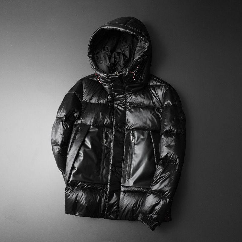 la mode européenne station d'hiver marque duvet de canard blanc veste en duvet à capuchon