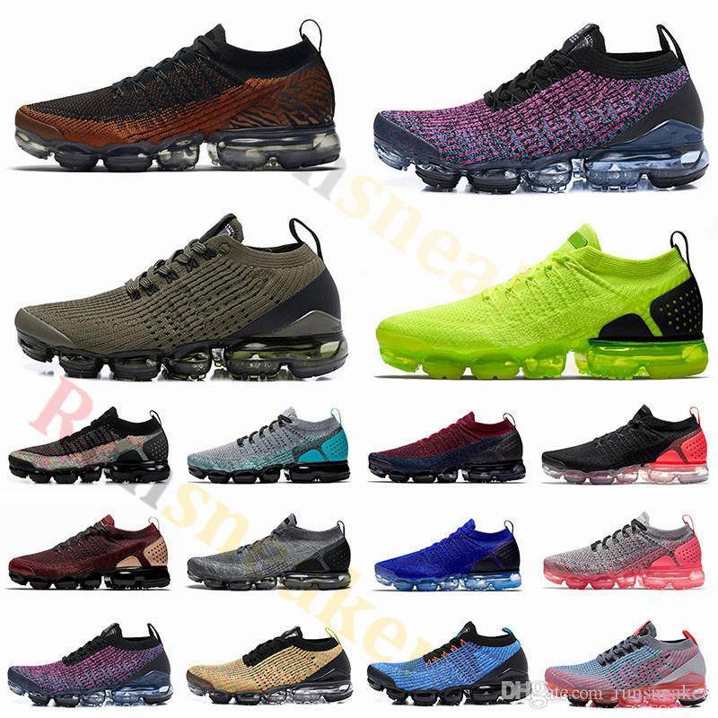 Nike Air Vapormax 2.0 Fly 3.0 Knit Zapatillas de running Zapatillas de deporte para hombre Zapatillas de deporte con diseño de cojín Zapatillas deportivas Tamaño 5.5-12