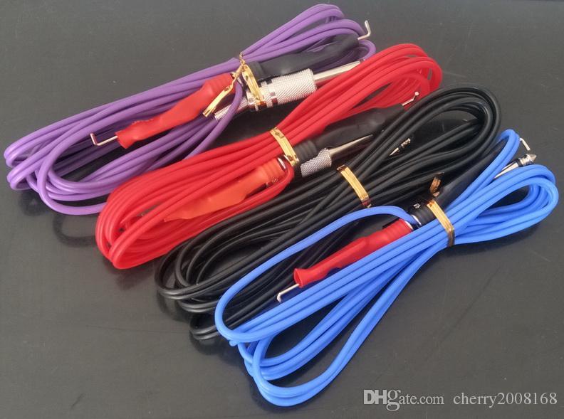 10Pcs Großhandel Tattoo Clip Cords gemischte Farben-Silikon-Gel-Tätowierung-Klipp-Schnur für Tätowierung-Maschinengewehr-Stromversorgung