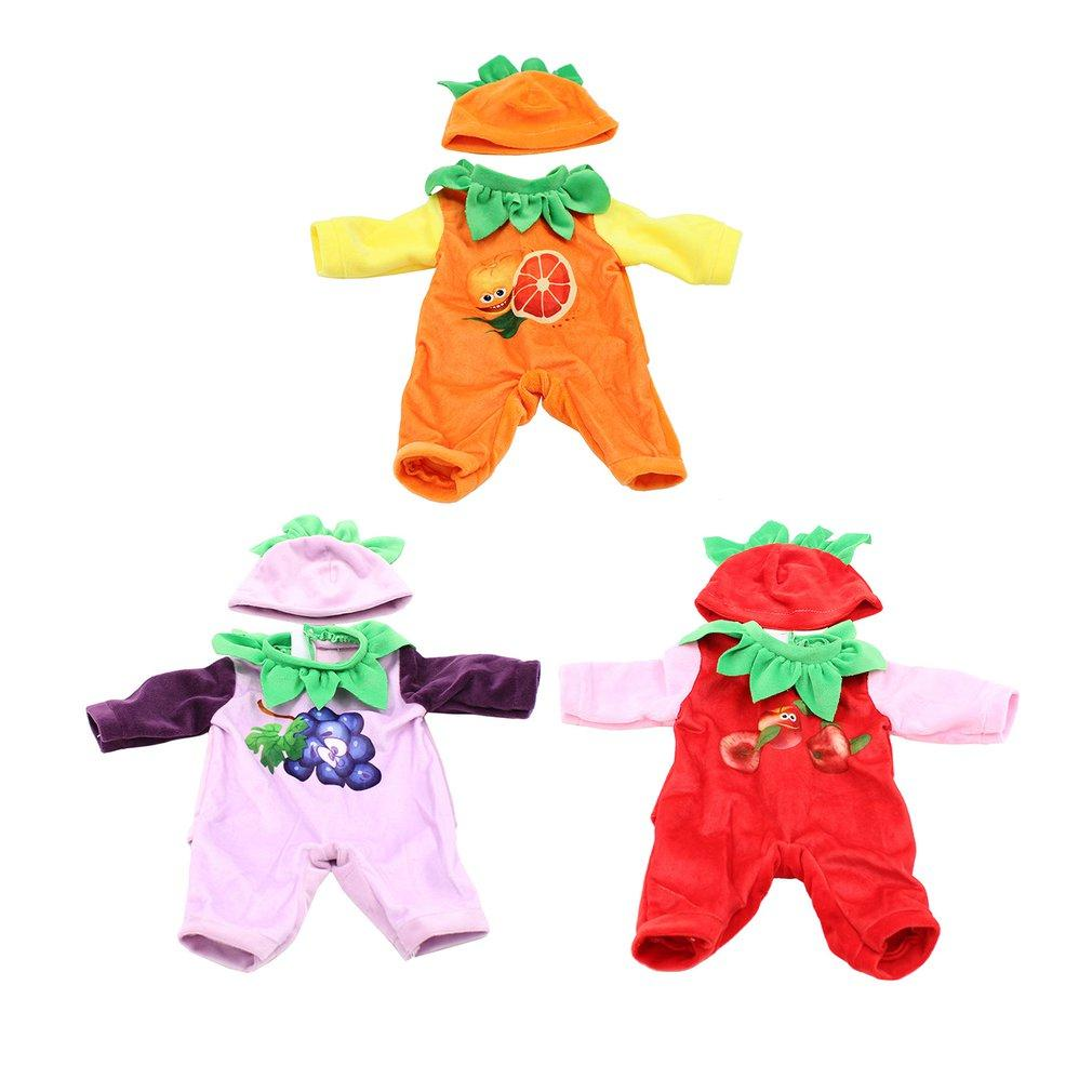boneca de 18 polegadas roupa roupa linda definir Girl Doll Toy roupas bonito Pattern Fruit Renorn Bonecas desgaste crianças presentes